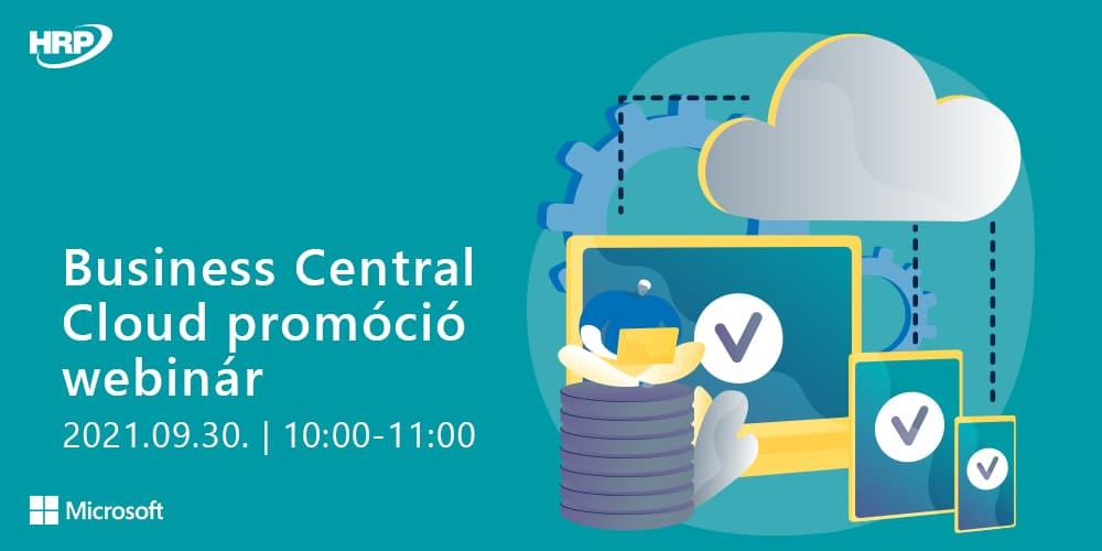 Business Central Cloud promóció - Webinár
